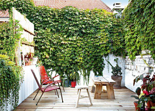 Une terrasse aux couleurs pepsy esprit scandinave chic - Marie Claire Maison