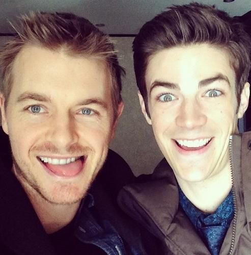 Rick Cosnett and Grant Gustin being amazing as always