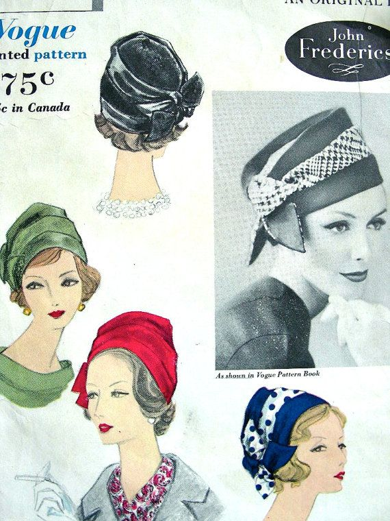 vintage sewing hat patterns