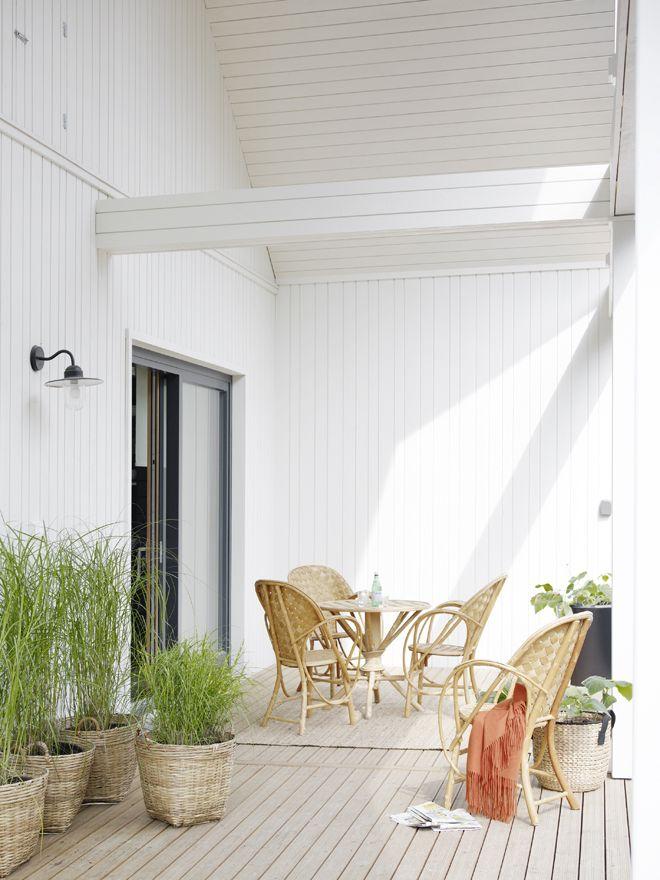 Valkoinen Harmaja: Asuntomessut 2014, Lato-talon terassi