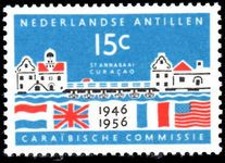 Netherlands Antilles 1956 Caribbean Commission, Unmounted Mint.