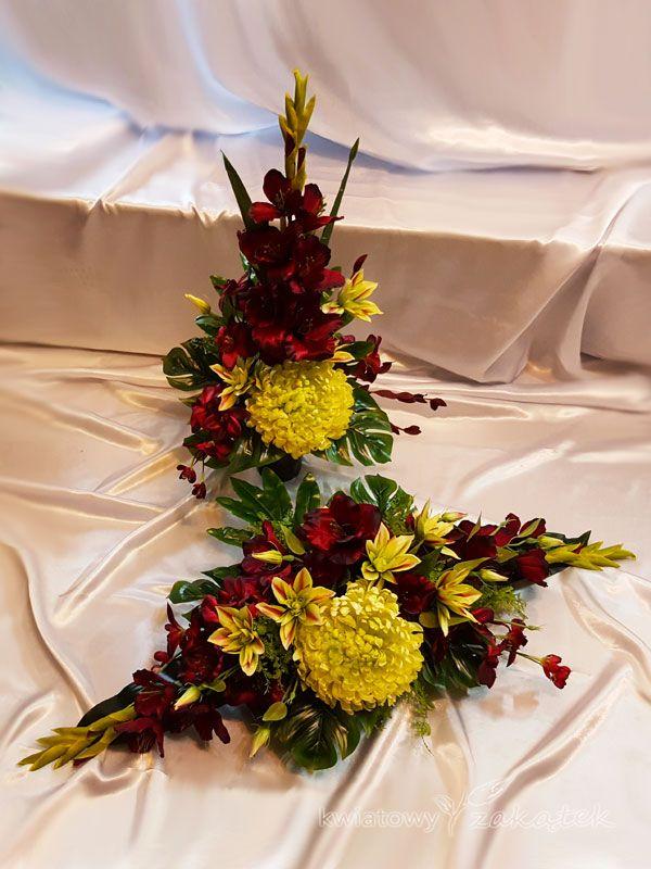 Kompozycja Na Grob Wszystkich Swietych Easy Holiday Decorations Christmas Table Decorations Funeral Flowers