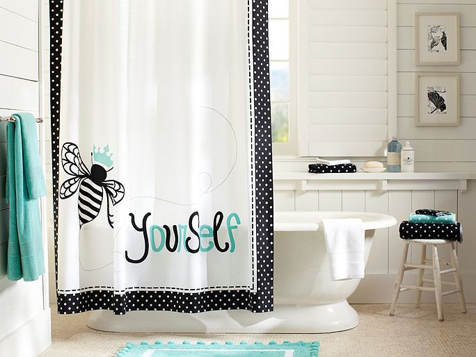 I Love The PBteen Bee Yourself Bathroom On Pbteen.com