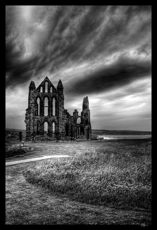 Cathedral ruins in Yorkshire