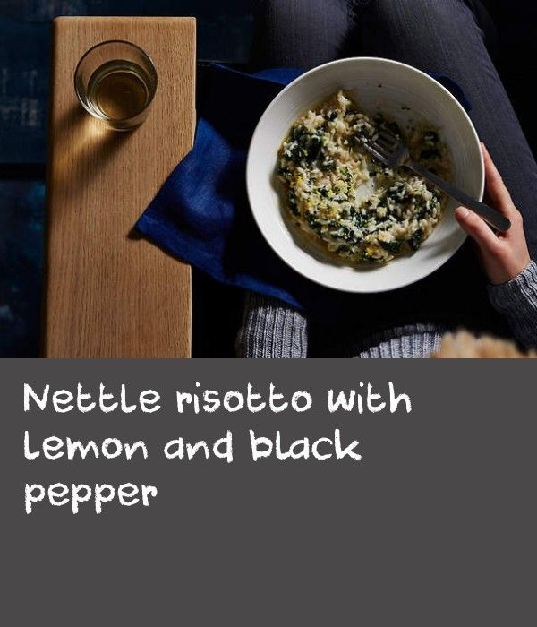 Nettle risotto with lemon and black pepper | A good risotto is a glorious dish, easy to make but hard to perfect and just the kind of comfort food you need on a chilly winter's night. Many debates range regarding how wet a risotto should be, and you do see regional variations throughout Italy. However, I always prefer mine to be very wet, the rice almost pooling onto the very edges of my plate. I am also drawn to simple versions made with fewer ingredients. This recipe focuses on zesty lemon…