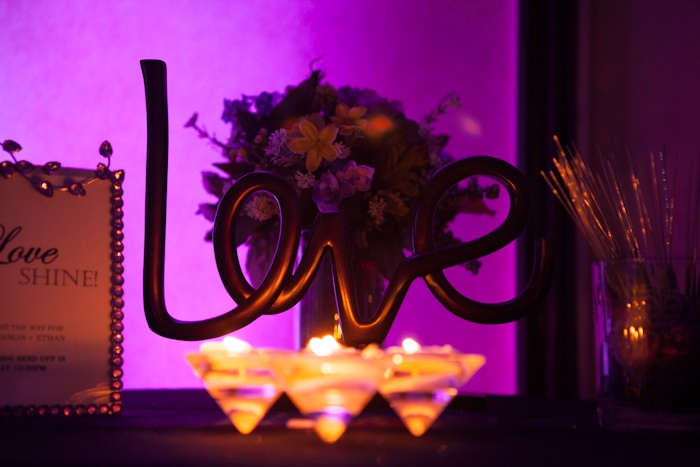 """""""LOVE"""" the wedding decor-photography by Brian Sumner    Just idea-no link"""