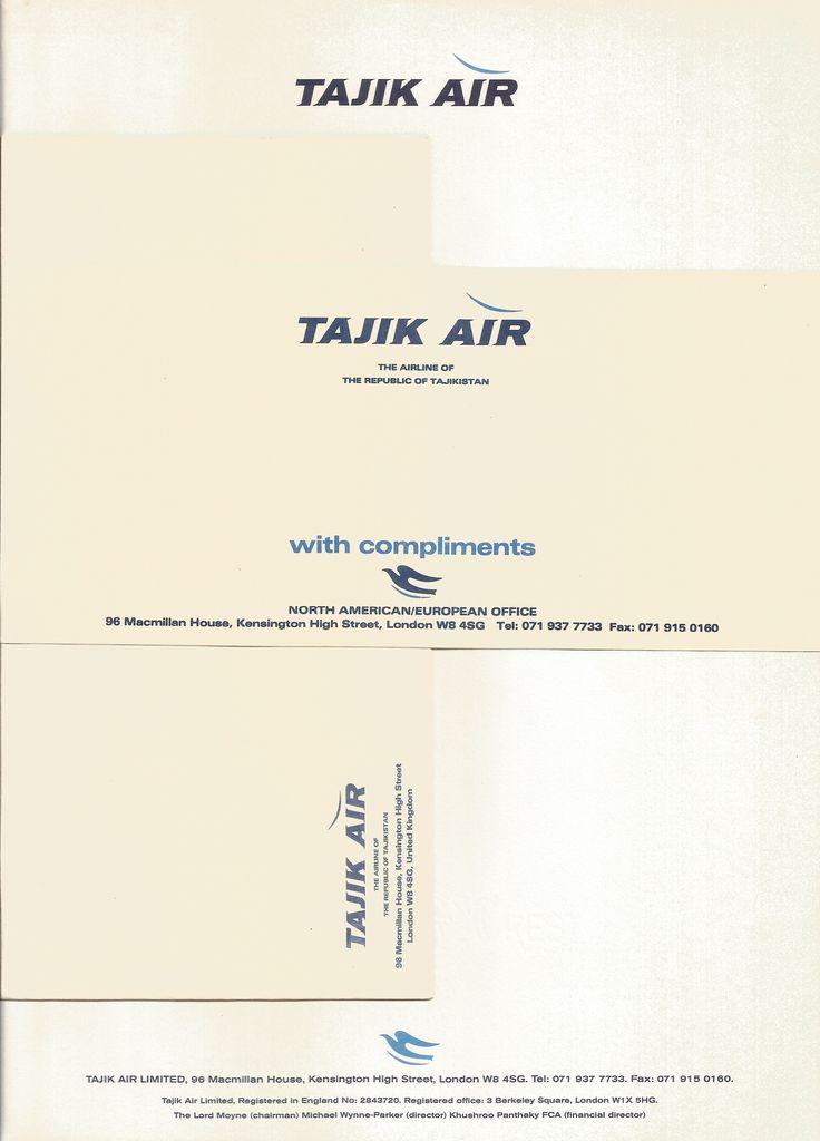 Tajik Air stationary.