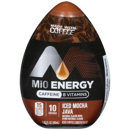 MiO Energy Iced Mocha Java Iced Coffee Concentrate, 1.62 Oz Bottle