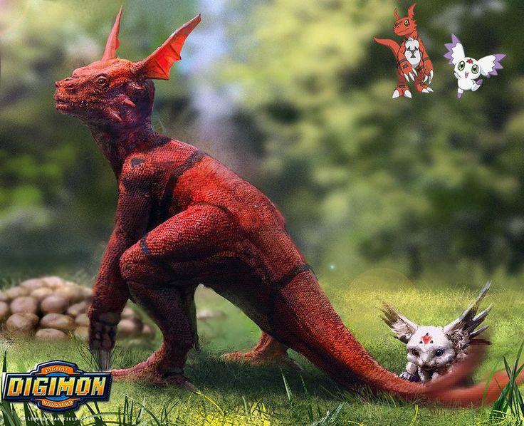 Digimon: Guilmon and Calumon by LindseyWArt on DeviantArt