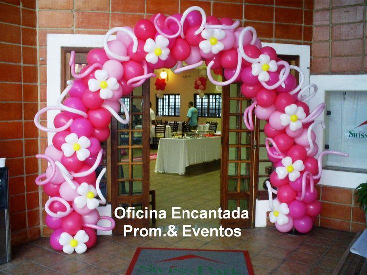 Spiral Arch with Flowers & Swirls