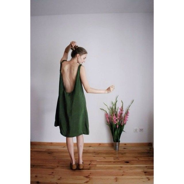 #silk #backlessdress #green #dress #flowers  @nadiakhivrich