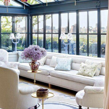 Bette Midler's Lush Manhattan Penthouse and Garden : Architectural Digest