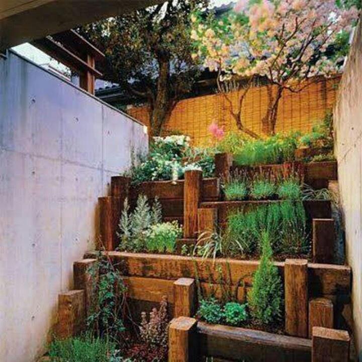 24 best Gardening tiered images on Pinterest | Backyard ... on Tiered Backyard Ideas id=60787