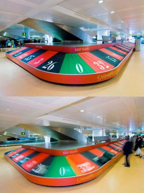 Casino ad in the airport