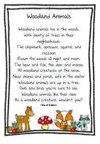 woodland animal poems | Thursday, October 24, 2013