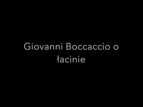 Giovanni Boccaccio o łacinie | Łacina globalnie