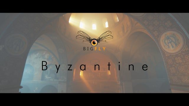 """""""Byzantine"""" Balade en drone à l'intérieur d'une église Neo Byzantine.  One…"""