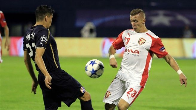 Soudani fires ten-man Dinamo past Skënderbeu - UEFA Champions League - News - UEFA.com  Dinamo Zagreb 4-1 Skënderbeu (agg: 6-2)