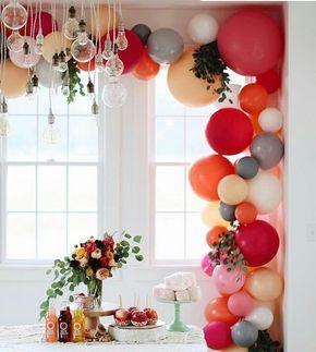 Sabendo escolher as cores certas até balões se transformam em uma obra de arte não é mesmo?