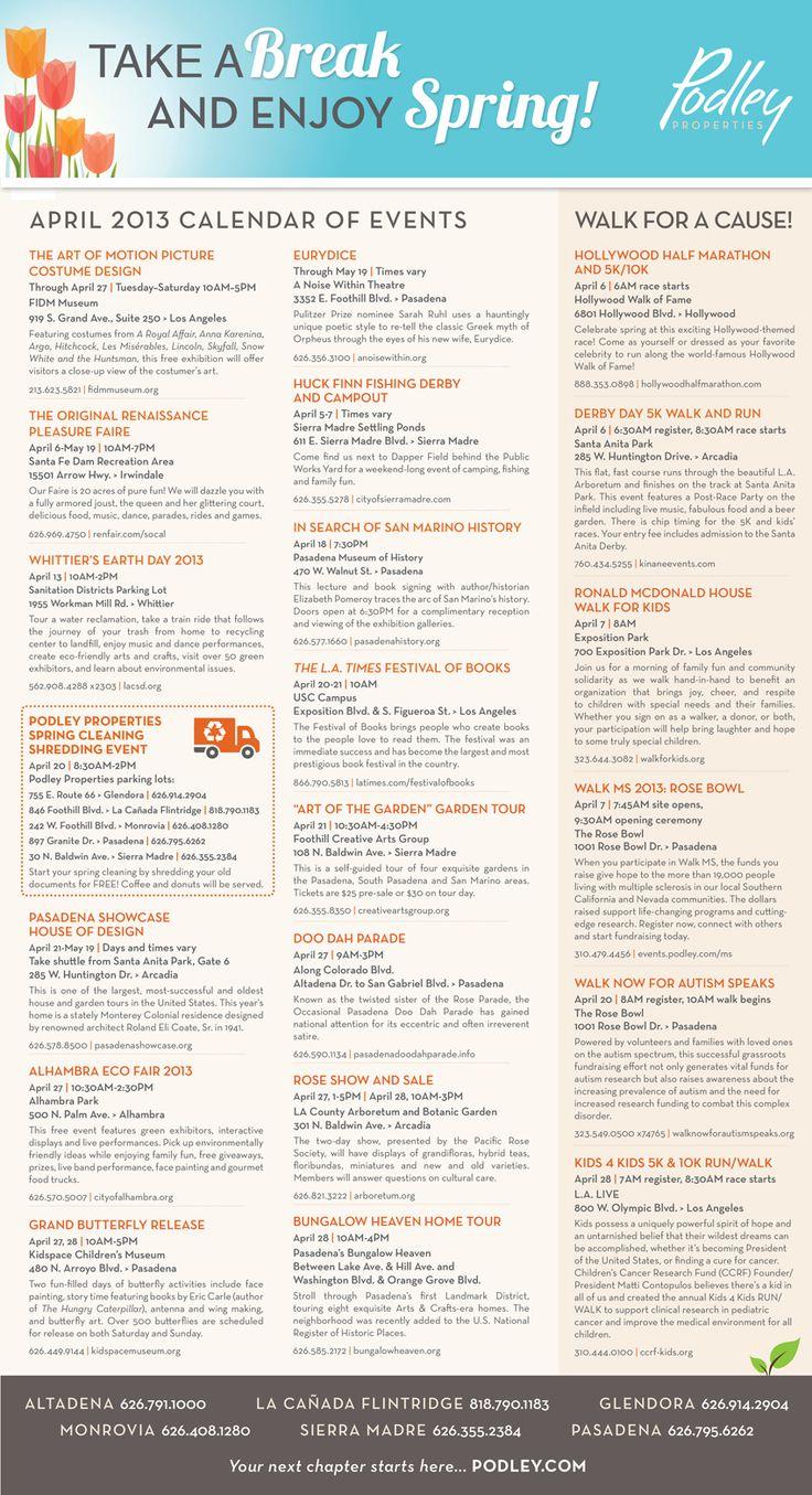 Calendar April Events : San gabriel valley april events calendar calender