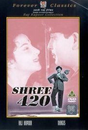 Shree 420 Watch Online. Wearing torn Japanese shoes, English trousers, a red Russian cap, and a Hindustani heart, orphaned Ranbir Raj comes to Bombay to make his fortune. He pawns his gold medal, gambles with the ...