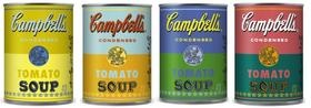 """Target is selling these limited-edition Campabell's Soup cans in honor of the 50th anniversary of Andy Warhol's iconic """"Campbell's Soup Cans"""" painting."""