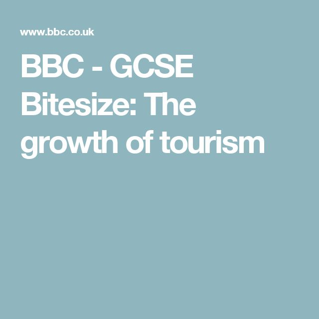 Bbc Worst Jobs In History Royal Bathroom: BBC - GCSE Bitesize: The Growth Of Tourism
