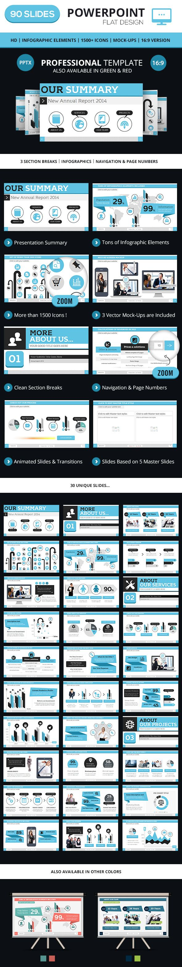 Professional PowerPoint Business Template — Powerpoint PPTX #white #icons • Available here → https://graphicriver.net/item/professional-powerpoint-business-template/7489847?ref=pxcr