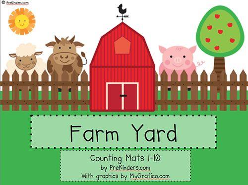Farm Play Dough Math Mats @ PreKinders.com