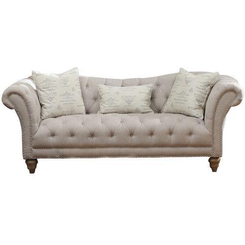 "Lark Manor Versailles Sofa | Overall: 33"" H x 90"" W x 36"" D"