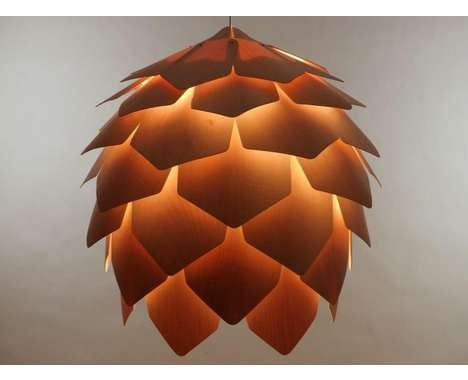 Crimean Pinecone Lamp Is A Wooden Pendant Light Designed By Russian  Designer Pavel Eekra. In Designeru0027s Words, U201cCrimean Pinecone Lamp Consists  Of 56 Plates