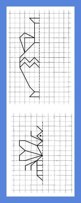 Графические диктанты - рисуем по клеточкам   Меню школьного психолога