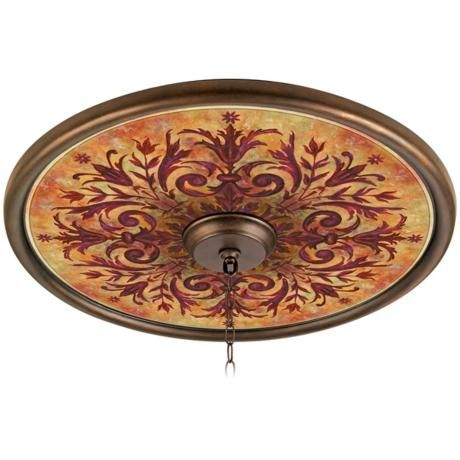$129.. Would love to have this above chandelier in Dining room or above ceiling fan in Living room. So Rustic -Tuscan.