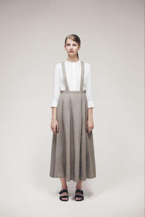 Samuji natural linen skirt