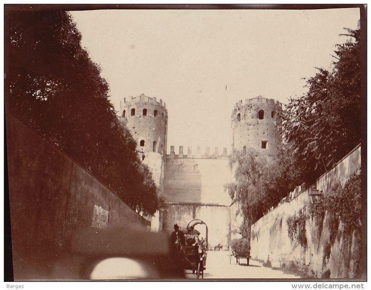 Photo Ancienne 1904 Porte Appienne à  Rome Italie - Luoghi