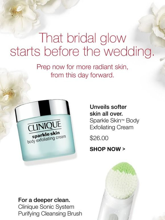 How to get that bridal glow + 4 FREE minis with purchase.
