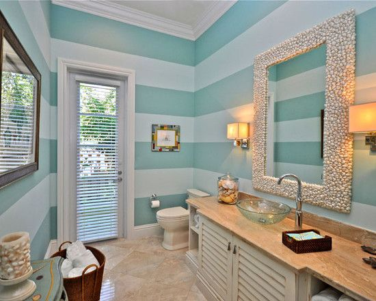 Tropical Bathroom Double Door Bathroom Design, Pictures, Remodel, Decor and Ideas - page 7