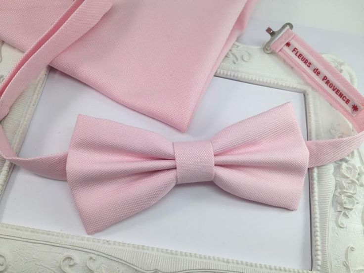 Noeuds papillon, SET Noeud Papillon et Pochette Costume rose poudré est une création orginale de FleursdeProvence sur DaWanda