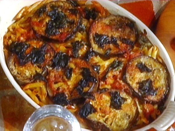 Oven-Baked Penne with Eggplant: Penne al Forno con Melanzane from FoodNetwork.com