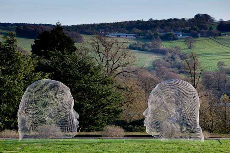 jaume plensa at the yorkshire sculpture park