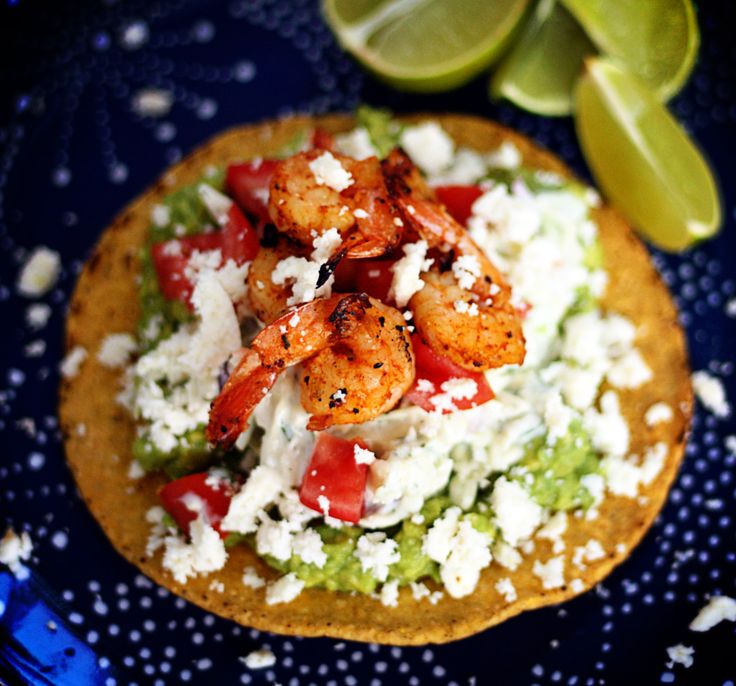 bbq grilled shrimp tostadas DELICIOUS!! | Seafood Obsession | Pintere ...