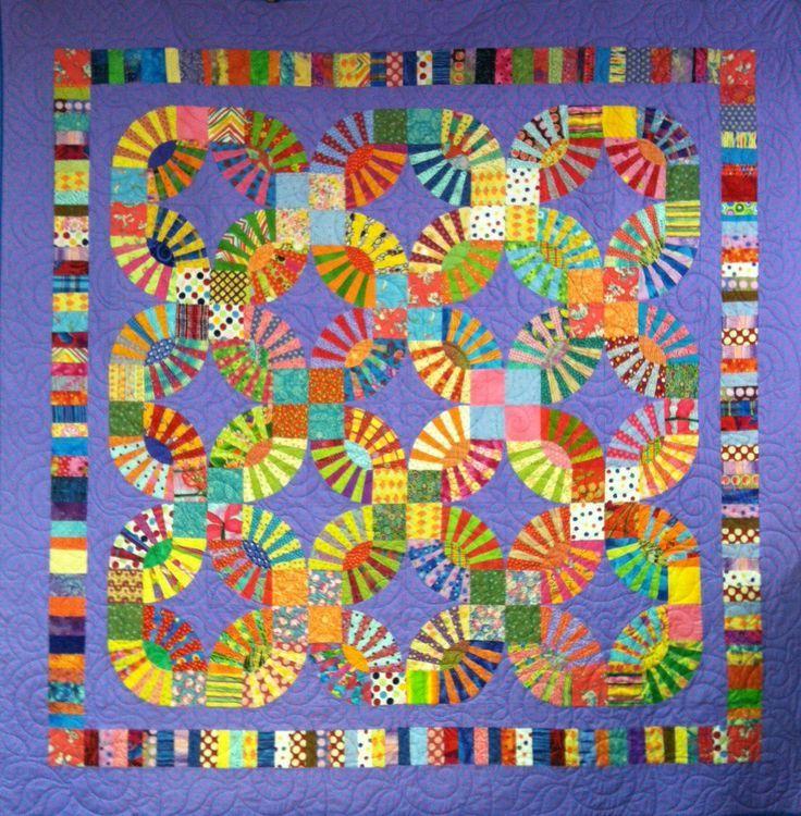 kaffe fassett quilts | Kaffe Fassett's Pickle Dish quilt, a class by Judy Witkin, at The ...