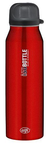 Alfi isoBottle Thermo Isolating Bottle with Drink Sealing Stainless Steel Pure Red 05 l 5337637050 >>> You can find more details by visiting the image link.