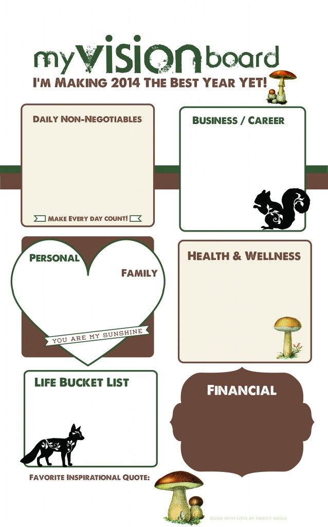 Forest #VisionBoard and #GoalSetting Map- Get your own PDF to Print ...
