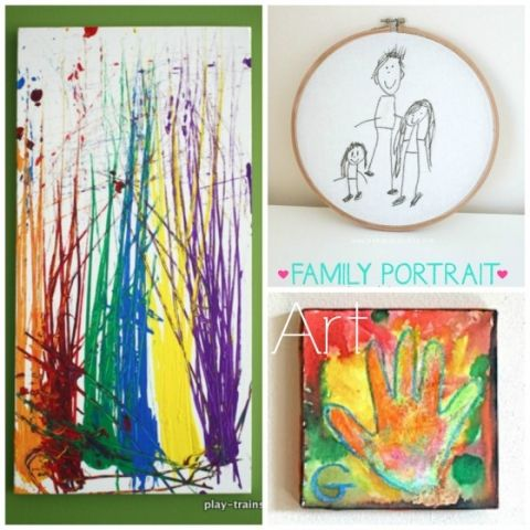 Art kids can make and give as gifts