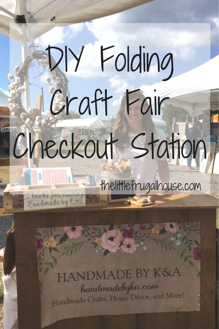 This craft show checkout station is perfect for wrapping gifts, ringing up purch...