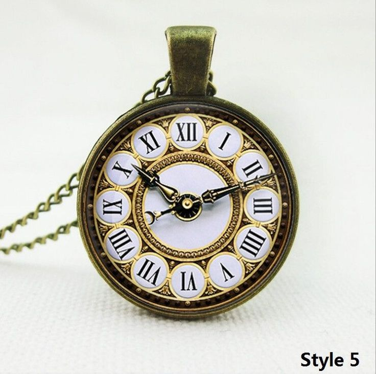 New Brand Fashion Cabochon Jewelry Vintage Antique Silver Alloy Galaxy Collar Fake Clock Statement Necklaces For Women Men