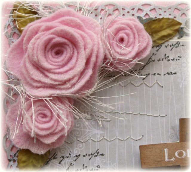 Rose decorative di Feltro - Riuso Creativo