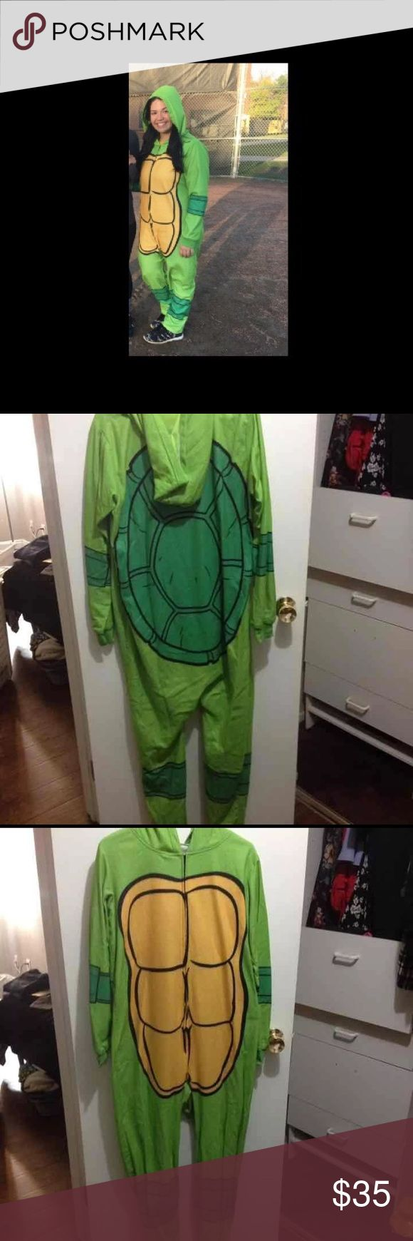 Nickelodeon Ninja Turtle Unisex Onesie Worn but good condition! Size M/L Nickelodeon Intimates & Sleepwear