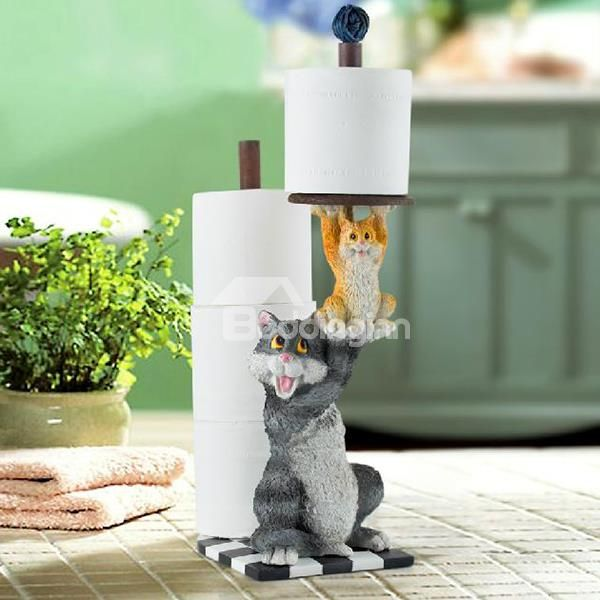 Top Class Vivid Mother and Daughter Cat Paper Holder | new ...